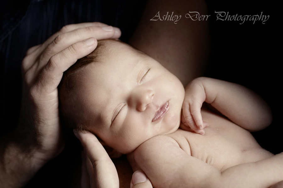 First newborn photography session