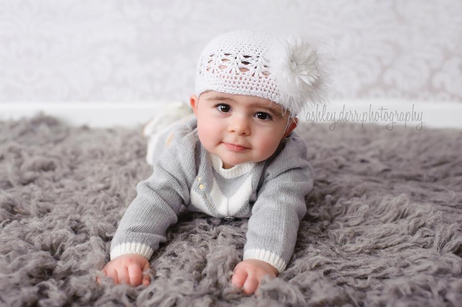 Aliquippa six month baby portraits