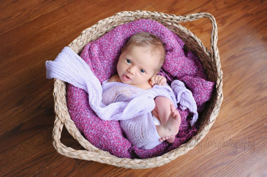 awake newborn baby pose