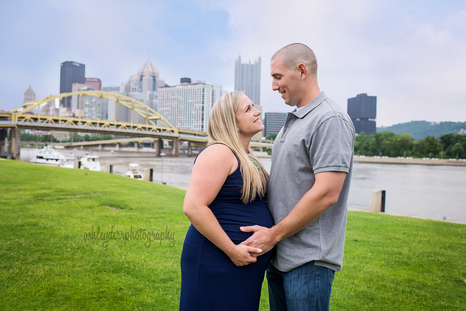 pittsburgh north shore pregnancy photography