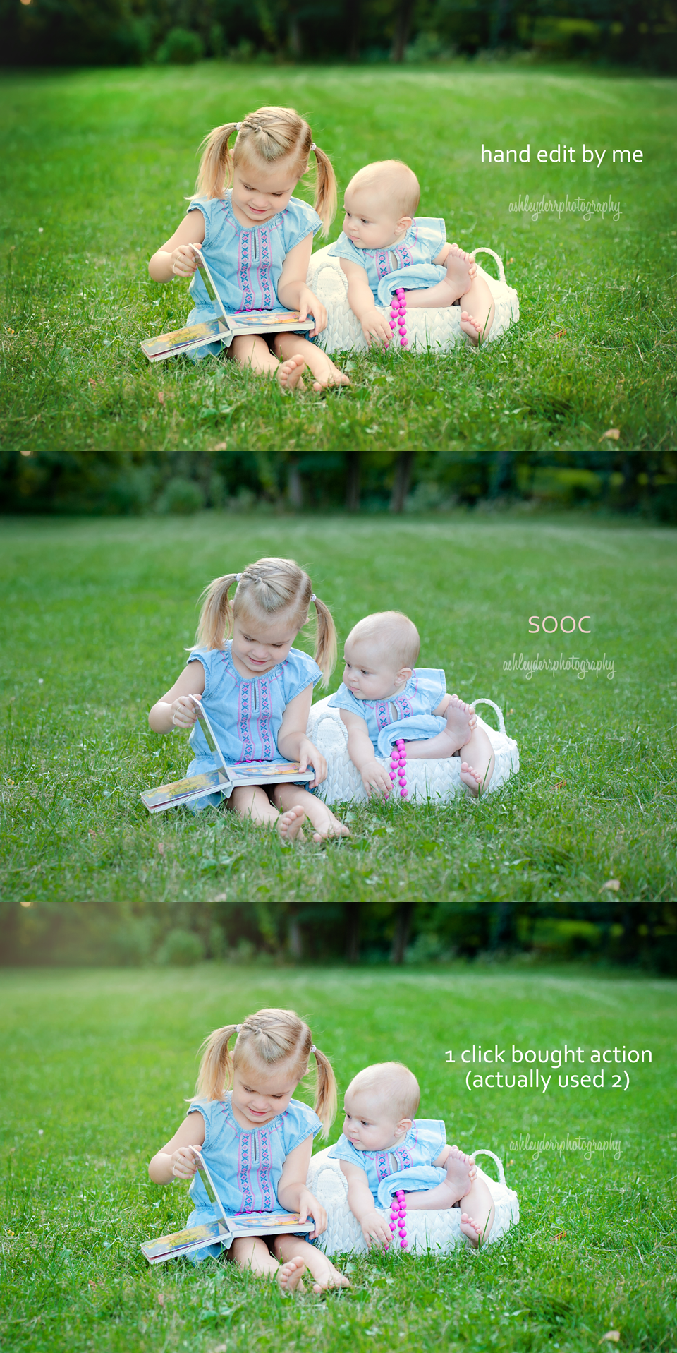 hand editing versus store bought actions pittsburgh photographer