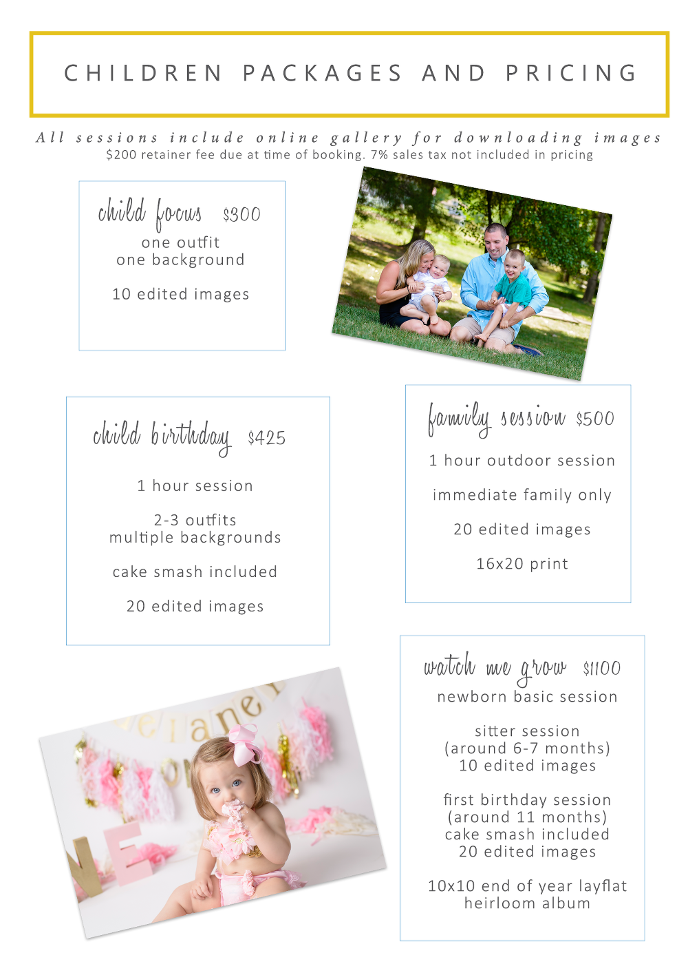pittsburgh photographer pricing